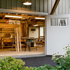 traditional garage and shed by Whitten Architects