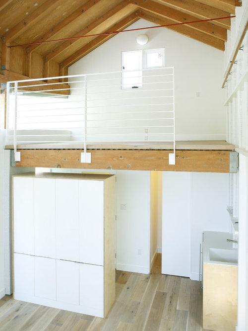 small attic office workshop loft garage storage houzz