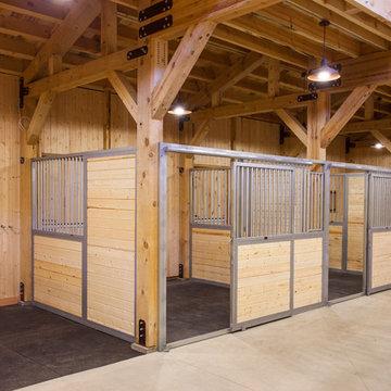 Wyoming Horse Barn