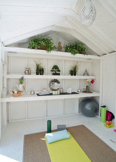 Shabby-chic Style Garden Shed and Building by Backyard Buildings