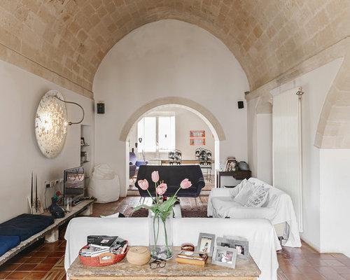 mediterranes wohnen mit terrakottaboden ideen f r die. Black Bedroom Furniture Sets. Home Design Ideas