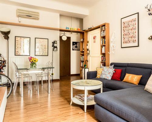 Soggiorno con pavimento in legno massello medio - Foto e Idee per ...