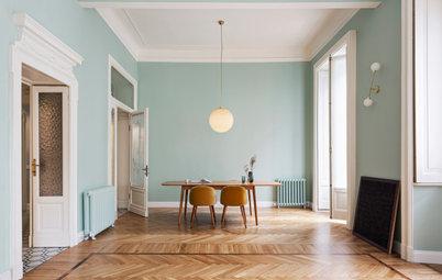 Pro e Cliente su Houzz: Casa del '900 Rinasce con Colori Pastello
