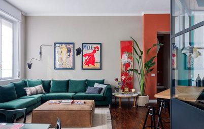 「ル・コルビュジエの色」でリノベーション。ガラスのキッチンを囲むミラノの部屋