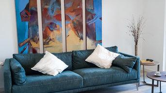 Appartamento al mare sui toni del blu_Liguria