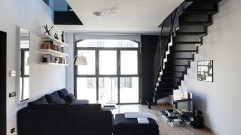 Appartamento in bianco e nero a Milano