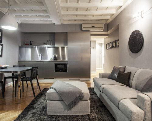 Soggiorno con pareti grigie - Foto e Idee per Arredare