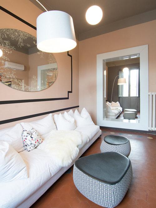 soggiorno con pareti rosa - foto e idee per arredare - Soggiorno Fucsia