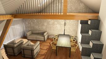 ATTIC D / Living room