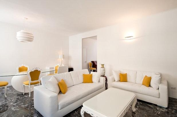 Prima e dopo restaurare un appartamento anni grazie al giallo