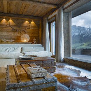 Immagine di un soggiorno stile rurale