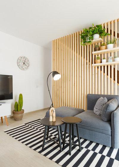 Nórdico Sala de estar by Maurizio Giovannoni Architetto