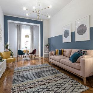 Foto di un soggiorno design di medie dimensioni