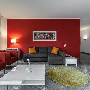Soggiorno con pareti rosse - Foto e Idee per Arredare