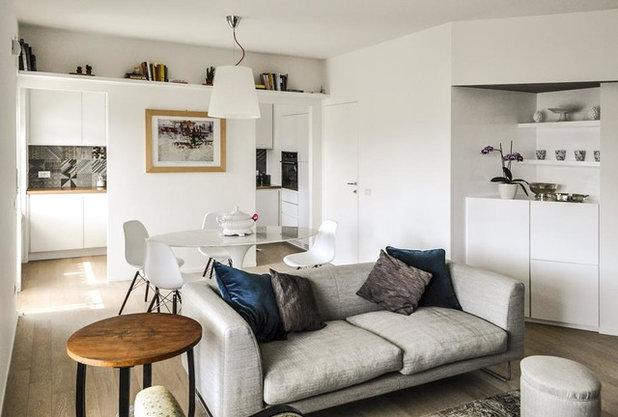 Prima e dopo come una parete obliqua pu allargare le stanze for Grande disposizione della stanza