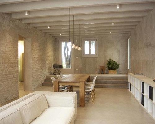 Salon avec un sol en carrelage de porcelaine : Photos et idées ...