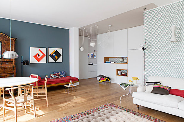 Modern Wohnbereich by cecilia avogadro