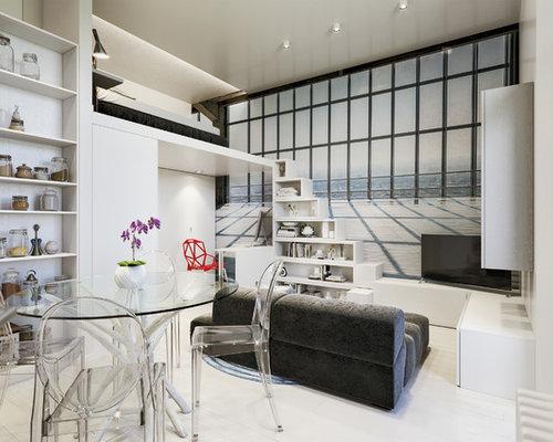 Piccolo soggiorno con pavimento in laminato - Foto e Idee per Arredare