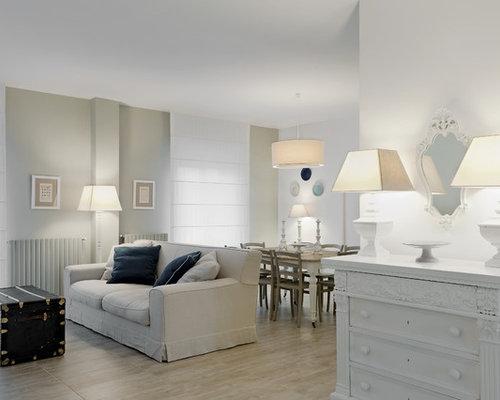 Foto e idee per soggiorni soggiorno shabby chic style - Soggiorno country chic ...