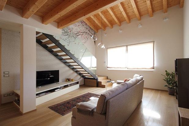 40 40 mq i segreti per rendere funzionali due mini piani for Piani di casa rustici con soppalco