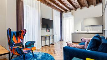 Eclettico appartamento con terrazza
