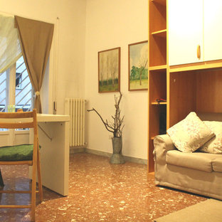 Example of a minimalist living room design in Rome