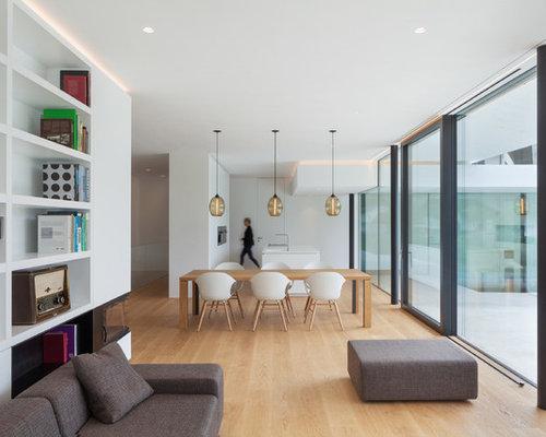 Salotti Moderni Con Camino : Arredamento soggiorno moderno con camino trendy libreria in