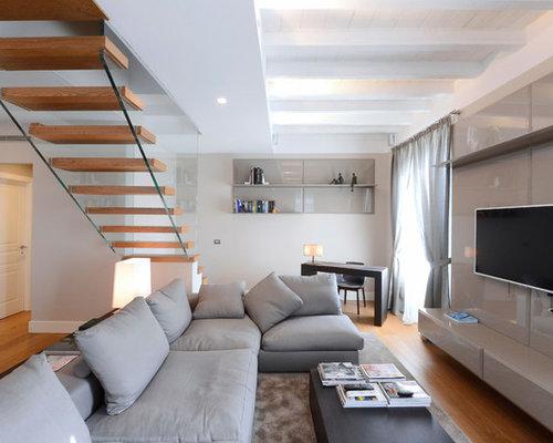 Milano interni appartamento salone for Interni case minimaliste