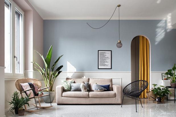 Transitional Living Room by Studio Tenca & Associati