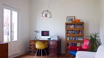 la zona studio in soggiorno