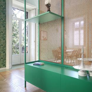 Eklektisches Wohnzimmer in Mailand