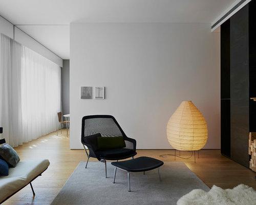 Pareti Grigie Salotto : Soggiorno contemporaneo con pareti grigie foto e idee per arredare
