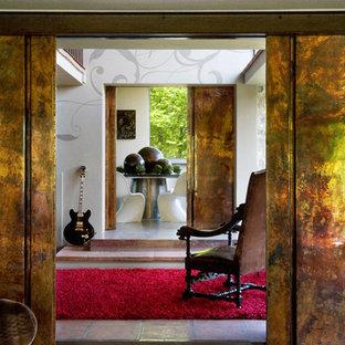 Family room - shabby-chic style family room idea in Bologna
