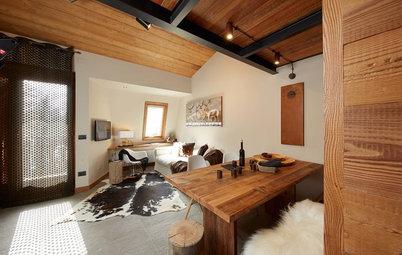 Vorher-Nachher: Eine Mini-Berghütte wird modern