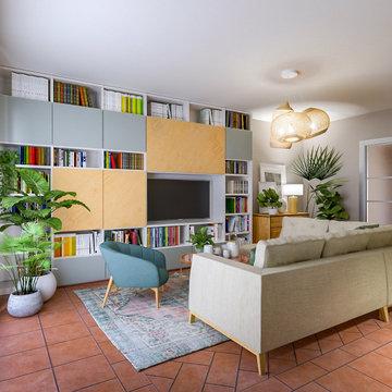 Nuovo look al soggiorno - Progetto in corso