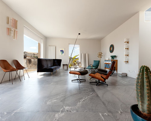 Best 20 Midcentury Modern Marble Floor Living Room Ideas Houzz