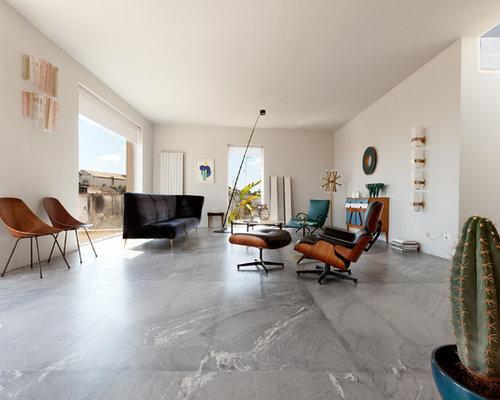 Soggiorno moderno con pavimento in marmo - Foto e Idee per Arredare