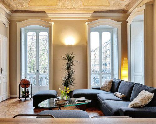 Soggiorno classico con pareti beige - Foto e Idee per Arredare