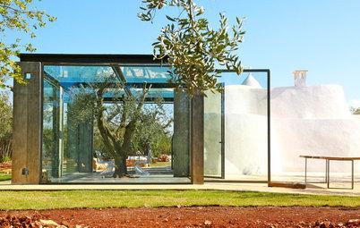 Houzz Tour: Italian Dry-Stone Huts Meet Modern Glass