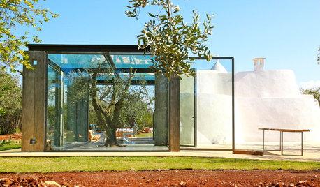 Houzz Италия: Дом-трулло со стеклянной пристройкой