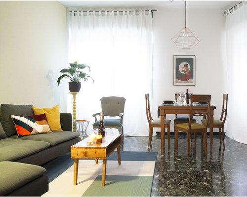 Wohnzimmer mit marmorboden und gr nen w nden ideen design bilder beispiele - Marmorboden wohnzimmer ...