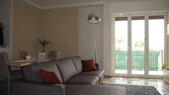 Ristrutturazione appartamento privato (zona soggiorno)