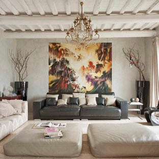 Abgetrenntes Stilmix Wohnzimmer in Florenz