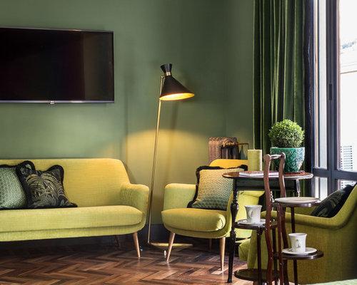 Parete Verde Scuro: Colore beige tendenze casa. Verde arte della ...