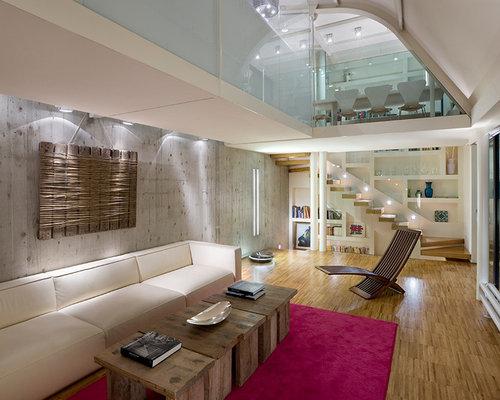 Grande soggiorno con libreria foto e idee per arredare - Arredare soggiorno grande ...