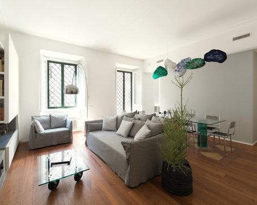 Foto e idee per soggiorni soggiorno con camino ad angolo - Soggiorni ad angolo moderni ...