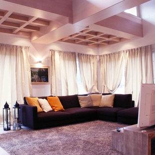 Idée de décoration pour une salle de séjour minimaliste.