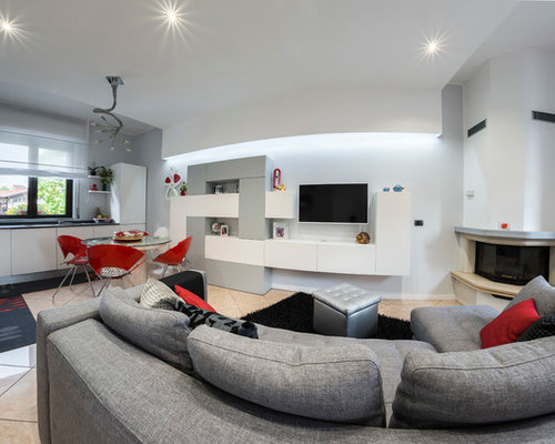 Foto e idee per soggiorni soggiorno con camino ad angolo - Soggiorni con camino ...