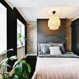 Imagen de dormitorio escandinavo pequeño