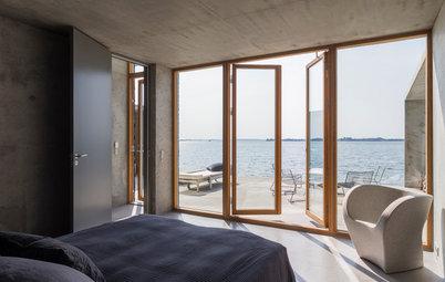 Houzz Tour: Arkitekternas sköna hus med havsutsikt från alla rum